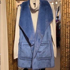 Reversible faux fur vest